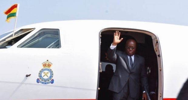 Akufo-Addo arrives in Angola for two-day state visit