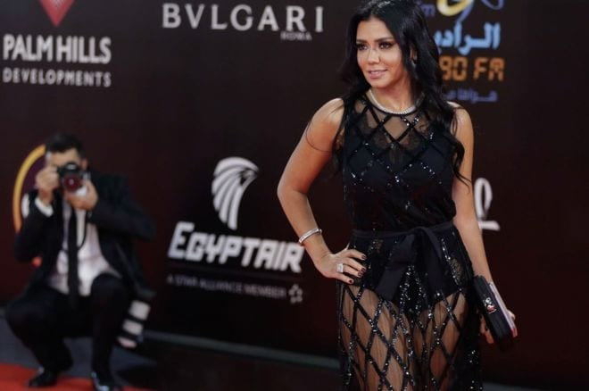 """Image copyrightAFP Image caption Ms Youssef says she """"probably miscalculated"""" in wearing the dress"""