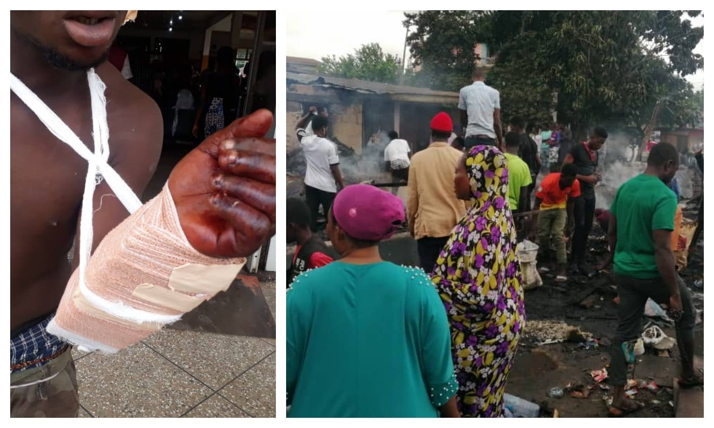 7 slashed with machete, 3 buildings burnt in violent clashes in Kumasi
