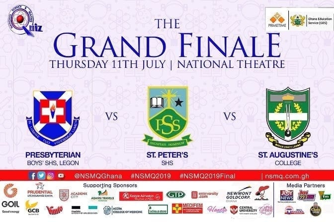 NSMQ 2019: St Peter's, PRESEC & Augusco face off in final