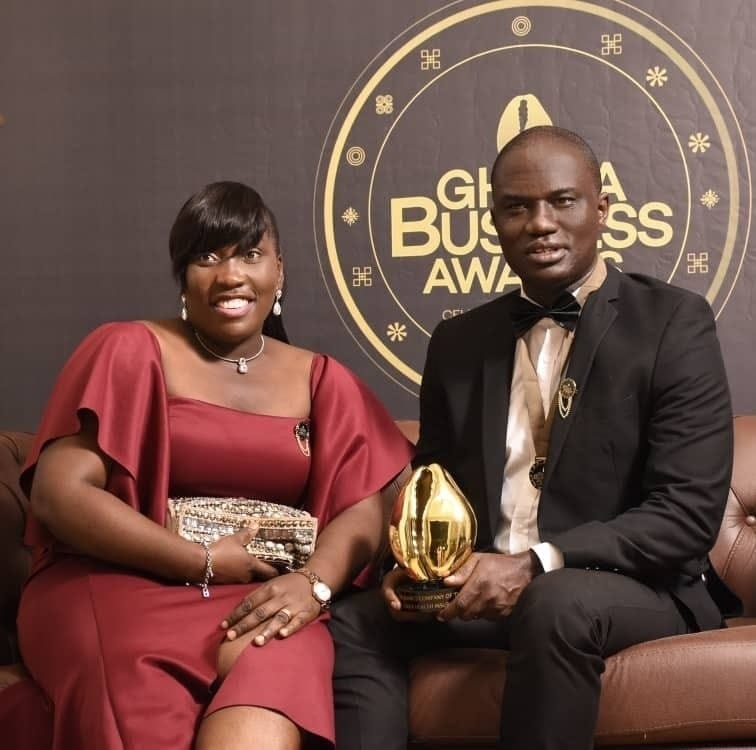 Mr Percy Asare Ansah with Mrs Lydia Ansah who is head of micro health insurance
