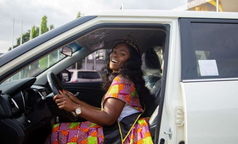 2019 GMB Queen, Ekua drives home car prize