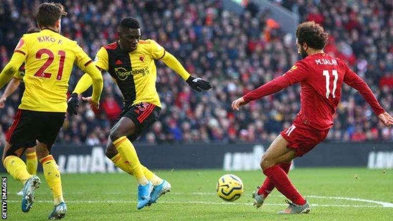 Salah double seals Liverpool win over Watford