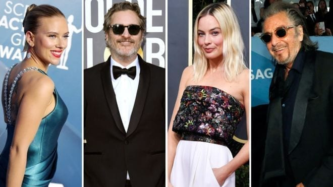 Left-right: Scarlett Johansson, Joaquin Phoenix, Margot Robbie and Al Pacino are all expected