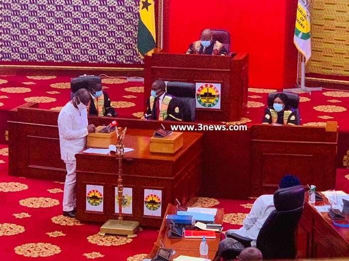 Minister of Finance Ken Ofori-Atta presented the 2020 mid-year budget review in Parliament [Photo: Komla Klutse, Media General]
