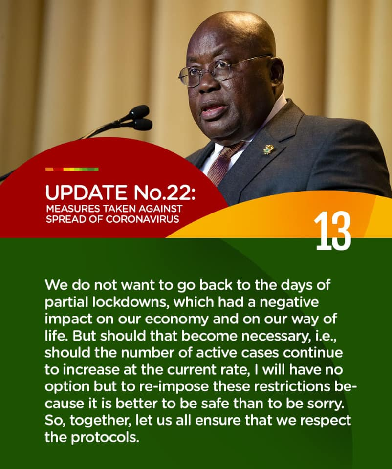I'll lockdown the country again if active cases of COVID-19 keep rising – Akufo-Addo